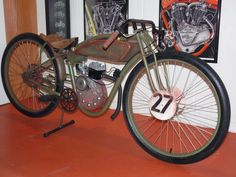 Fast is fast...: 1927 Harley Davidson board track racer replica.