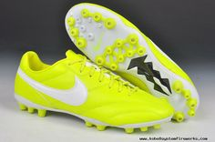 Buy Nike The Premier AG Boots Fluorescent yellow/white Football Boots White Football Boots, Cheap Football Boots, Football Shoes, Basketball Shoes, Nike Soccer, Nike Kobe Shoes, Nike Lebron, Lebron 11, Warrior Shoes