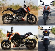 The KTM Duke 200 is the first of many KTM's that will come to India via the 40% Bajaj connection. The KTM name has always been associated with the most fun motorcycles around the world be it dirt, track or street. The Duke 125 showed us how much fun a motorcycle can be and add to that top stunt men like Rok Bagoros who swear by it, this bike definitely generated a lot of attention world over.