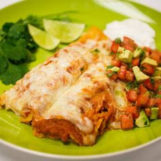 Cheese Enchiladas with Smoky Chipotle Sauce