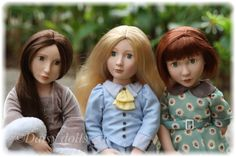 Our three beauties - Matilda, Amelia and Clementine - A Girl for All Time dolls. Love them all, but my favourite is still Matilda!