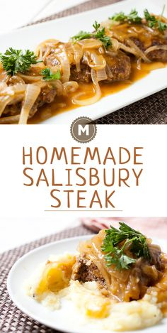Homemade Salisbury Steak: Made without soup packets and just good ingredients, this is the salisbury steak recipe that will redeem the classic!