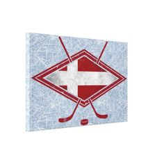 Danish Ice Hockey Logo Box Canvas