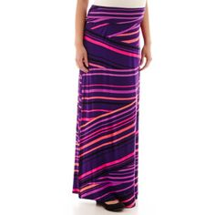 a.n.a® Fold Over Wide Waistband Maxi Pant - JCPenney $24.99 - three different designs