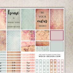 Free Vintage Happy Planner Stickers – MOCOdesign {newsletter subscription required}