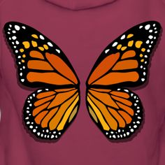 Souvenirs and Gifts by Kim Hunter - Collection Orange Butterfly, Butterfly Cakes, Monarch Butterfly, Butterfly Table, Butterfly Frame, Butterfly Painting Easy, Butterfly Drawing, Butterfly Stencil, Butterfly Wings Costume