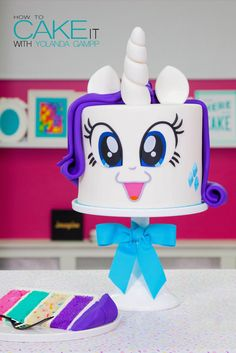 This week, I caked RARITY from My Little Pony! Because CAKE & BUTTERCREAM are never a RARITY in the HTCI Kitchen! ;)