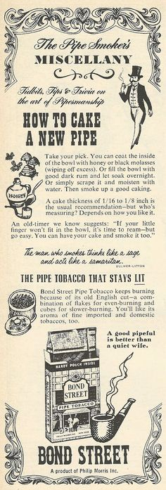1962 ad: Bond Street Pipe Tobacco
