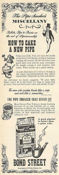 1962 ad: Bond Street Pipe Tobacco