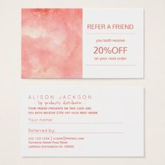 #professional - #Beauty products distributor referral template business card