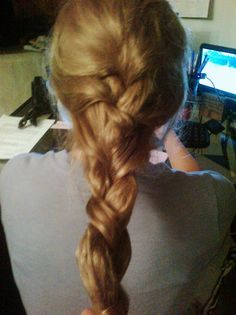 one of my first french braids..... yikkkes :/