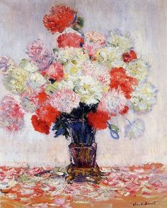 Landscape art Vase of Peonies Claude Monet French Impressionism Oil painting Canvas hand painted High quality Pierre Auguste Renoir, Edgar Degas, Artist Monet, Monet Paintings, Flower Paintings, Impressionist Paintings, Oil Painting Reproductions, Oeuvre D'art, Canvas Art Prints