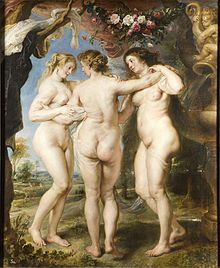 THE THREE GRACES, Rubens, 1635, The Prado