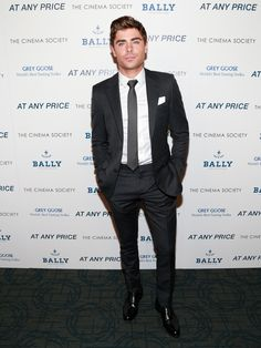 #ZacEfron wears #Bally Gosbel shoes to The Cinema Society screening of 'At Any Price' New York  Photo © Charles Eshelman/ FilmMagic Discover more in #avenueatetihadtowers