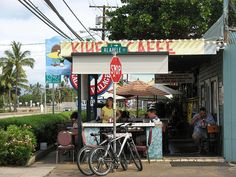 Kihei Cafe in Kihei, Maui, HI - I had the best home made corn beef hash and rice here. I still get hungry for it whenever I see the picture I took of it! It's almost worth the island hop just to get some!