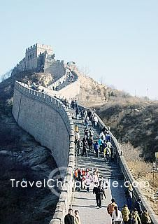 Beijing Great Wall crowded with tourists - less travelled parts of the great wall… hmm!!
