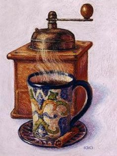 Coffee and Tea - Carla Simons - Picasa Web Albums I Love Coffee, Coffee Art, Black Coffee, Coffee Break, Coffee Theme, Coffee Drinks, Illustrations, Illustration Art, Café Chocolate
