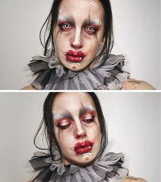 Michael Hussar inspired make-up look.