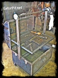 New Fajita grill ready to be installed on slide out.