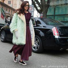 ELEONORA CARISI.  @eleonoracarisi on her way to @armani fashion show during #mfw #aef_photography  #mode #fashion #milan #fashionweek #style #streetstyle #street #eleonoracarisi #armani #instafashion