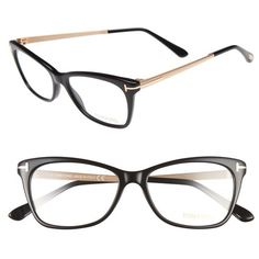 2bb2483da2 Women s Tom Ford 52Mm Cat Eye Optical Glasses ( 430) ❤ liked on Polyvore  featuring
