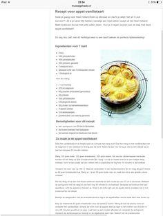 Appel vanille taart