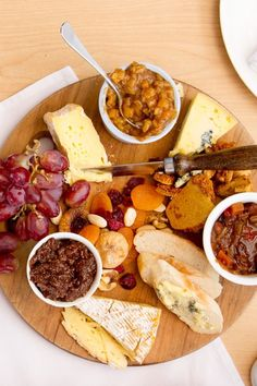 When seasonal fresh fruit is in short supply, pair cheeses with dried fruit, nuts and your favourite relishes or chutneys. Serve with fresh bread rather than crackers.
