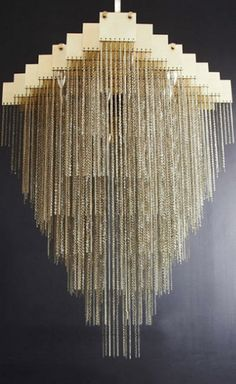 Brass Kelly Chandelier by Gabriel Scott