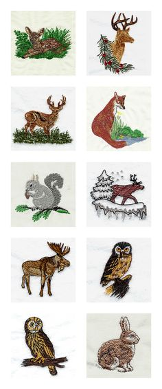 Realistic Wildlife Embroidery Machine Design Details