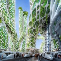 """Vincent Callebaut's [vision of Paris] for the future"""