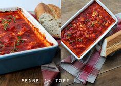 Gebackener Ofen-Feta in Tomatensauce - Penne im Topf