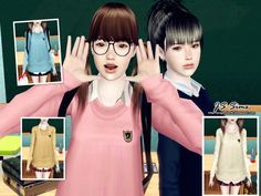Japanese School Uniform Set at JS Sims 4