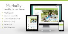 Herbally - Clean Zencart theme