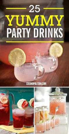 PARTY DRINKS: Pin this and use these recipes to whip up tasty drinks for your holiday parties this year! You can prep these ahead of time and serve them in large punch bowls or pitchers, that way, your only party job will be to have a blast! Click through for 25 fun sangria and punch recipes you won't find anywhere else!
