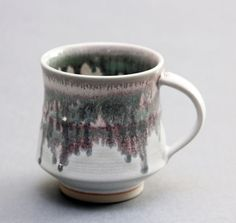 Wheel Thrown White Porcelain Mug with Dripping door hsinchuen, $45.00