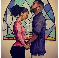 Praying couple