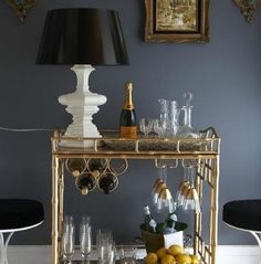 chic bar cart :: A NEAT Hostess with the Mostess | NEAT Method #organize #neat