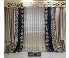 Make Simple Curtains and Valance for Any Window Unique - futuredesign Luxury Curtains, Shabby Chic Curtains, Home Curtains, Modern Curtains, Bedroom Drapes, Window Curtains, Valance, Curtain Designs For Bedroom, Latest Curtain Designs