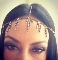 Head jewelry by TRACKINGTREASURES on Etsy, $35.00