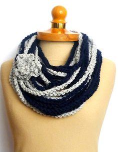 Chunky Infinity Scarf Crochet Necklace  by IskaCreations, $26.00