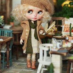 [MISSYODOLL]blythe jerryberry 9季森系连帽外套-棕-淡淡绿