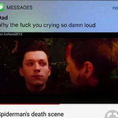 Aghhh no this isn't ok #tomholland #tom #holland #spiderman #dead #avengersinfinitywar #follow #explorepage