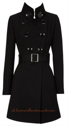 Karen Millen Trench Coats Black