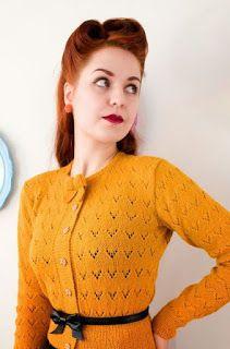 Blog laine tricot crochet | Planète Laine: Tendance Tricot: Cardigans Vintage - Semaine 22
