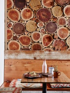 An all-wood moment in the restaurant at Folk Byron Bay. More on Astounding Australia -- the top travel destination of 2016 -- on Conde Nast Traveler!
