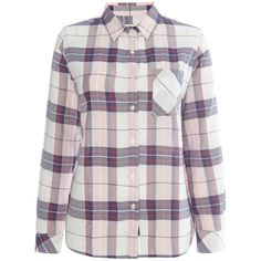 Barbour Brae check shirt (4.585 RUB) ❤ liked on Polyvore featuring tops, pink, women, pink checked shirt, checkered shirt, checkered collared shirt, pink shirts and cotton collared shirt