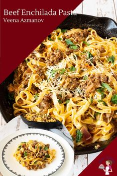 Best Enchilada Sauce, Enchilada Pasta, Recipes With Enchilada Sauce, Easy Beef Enchiladas, Homemade Enchiladas, Mexican Food Recipes, Beef Recipes, Mexican Dishes, Italian Recipes