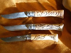 Opinel Knives w/carved handles