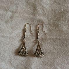 Samiska örhängen av silver. Sami earrings from Jokkmokk.