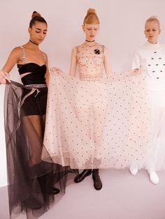 Nora Attal, Lululeika Ravn Liep and Marjan Jonkman backstage at Dior SS17.